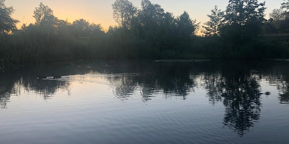 Sonnenaufgang  Yoga an der Rott