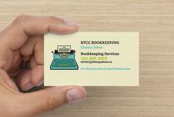 BTCC Bookkeeping Business Cards