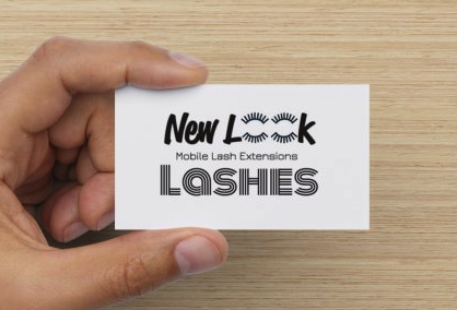New Look Lashes Business Card