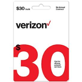 Verizon $30 Refill Service