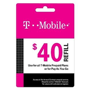 T-Mobile $40 Refill Service