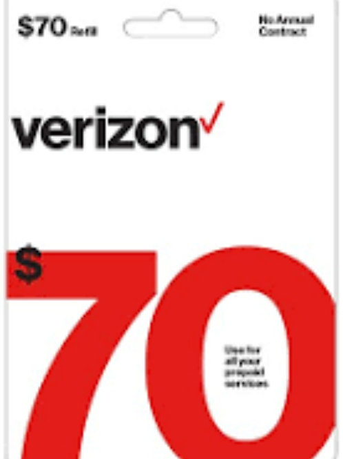 Verizon $70 Refill Service