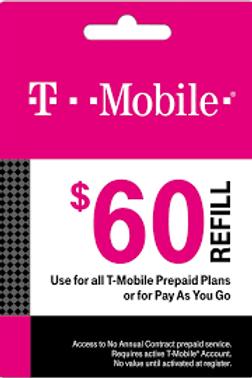 T-Mobile $60 Refill Service