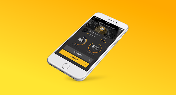 Wheel mobile application for the future of transportation - Part of our UX Portfolio