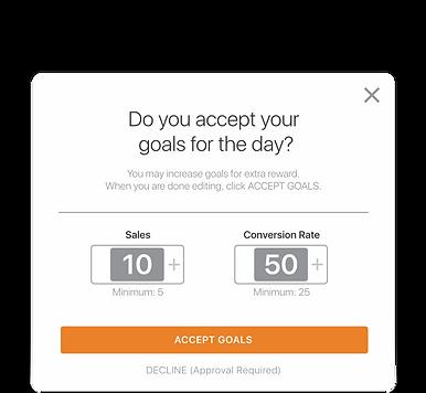 Goal selector UI