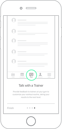 Continuum Mobile App Talk To A Trainer Screen