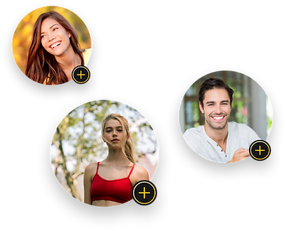Fitness enthusiasts profiles for the VYTL Fitness mobile app