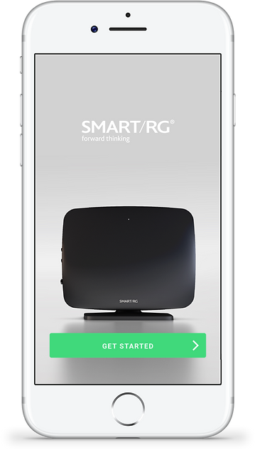 SmartRG mobile app first screen designed for simple intuitite UX