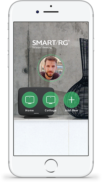 SmartRG mobile app setup screen an example of Neuron's UX capabilities