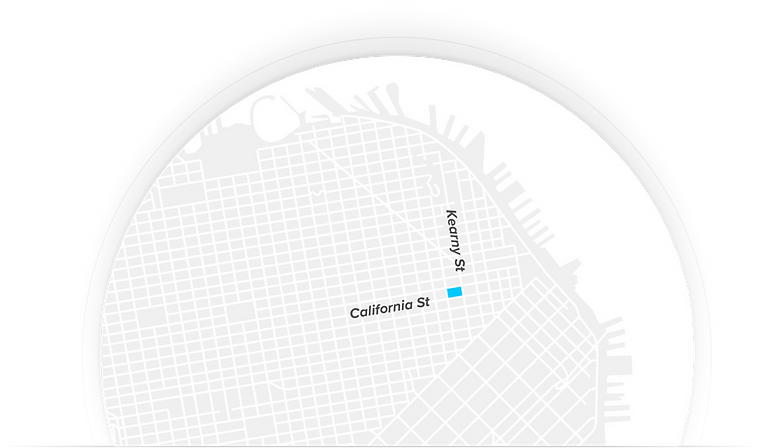 Neuron UI UX Design Firm headquarters on a map in San Francisco, serving clients from Silicon Valley to New York.