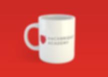 Designed brand materials - white coffee mug