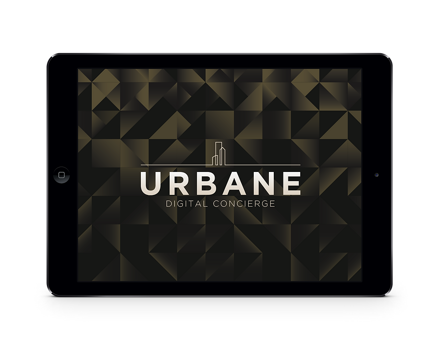 The Urbane digital concierce on an iPad tablet.