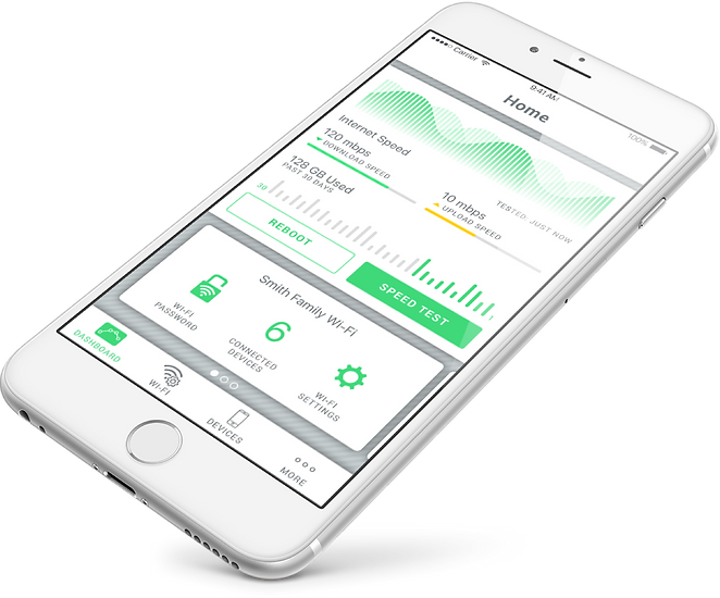 SmartRG mobile app dashboard