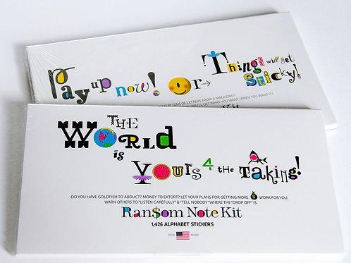 Ransom Note Sticker Kit