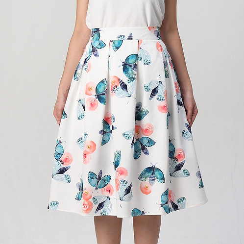 I am not Butterfly Pleated Skirt
