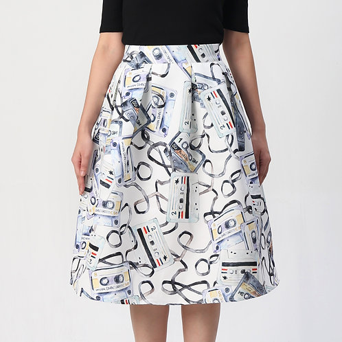 Oldies are Pretty Pleated Skirt