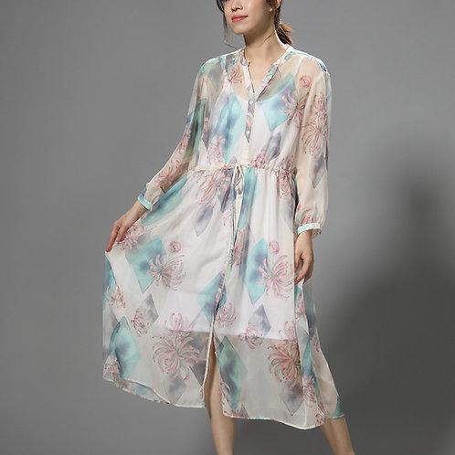 Vintage Garden Shirt Dress