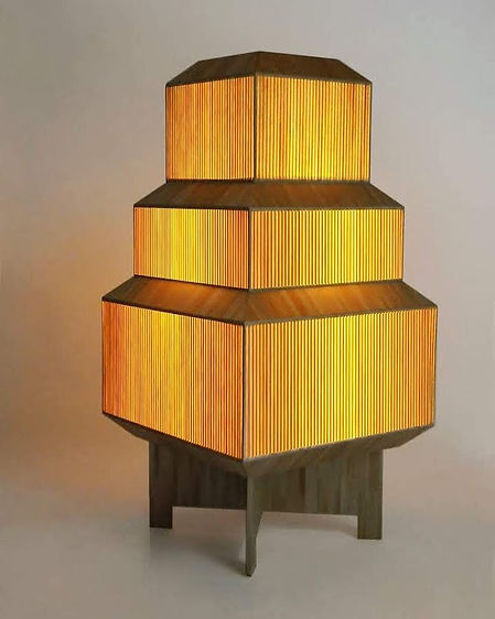 marqueterie de paille - Lampe - Artisanat d'art - Made in France