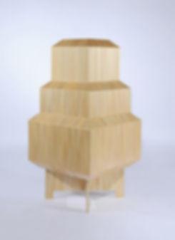 marqueterie de paille - Lampe - Artisanat d'art - Made in France