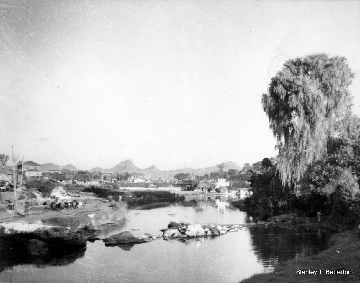 Kweiyang scene with river and weeping willow (china026)