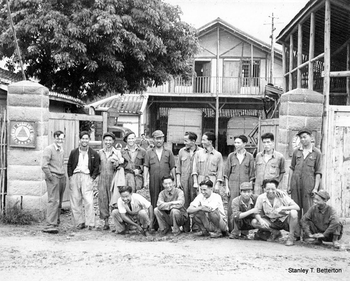 Sept 1945, Lushien Garage, ex Kweiyang garage lads (china019)