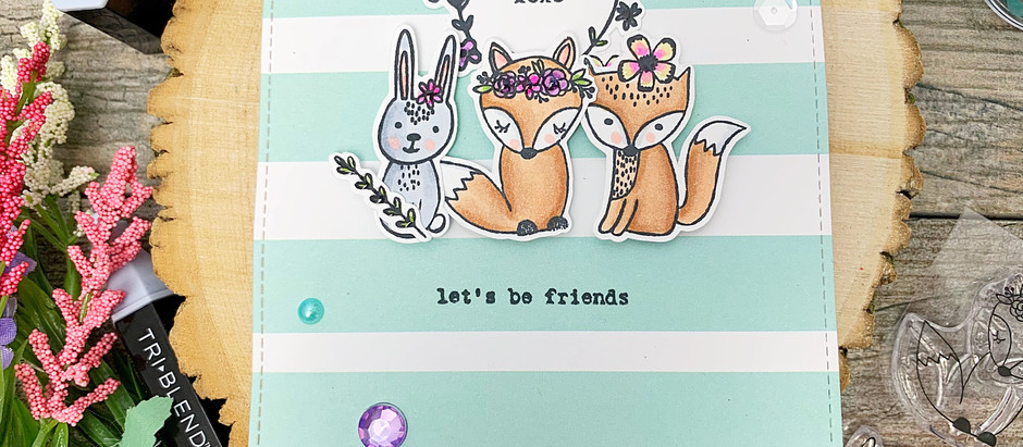 Let's Be Friends! | Flora & Fauna Bohemian Woodland Animals + Spectrum Noir TriBlend Marke