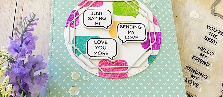 Whatca Sayin', Love you More!  Solid Stamping with Catherine Pooler Inks