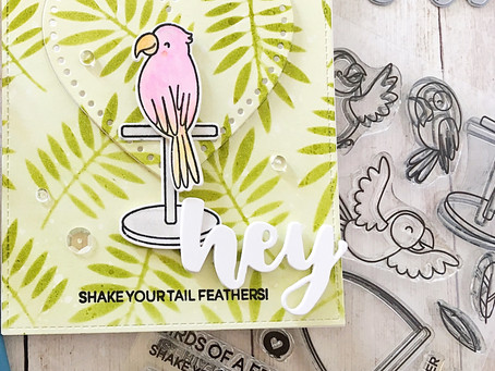 Hey! Shake Your Tail Feathers! | Heffy Doodle Encouragement Card