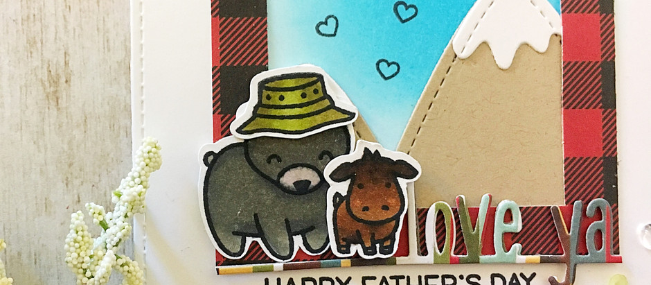 Have an A-moose-ing Father's Day! |Lawn Fawn Clean + Simple Card