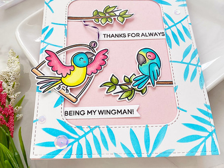 For the birds SNS Blog Hop | Heffy Doodle Wingman