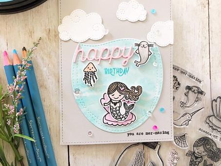 Mermaid Love with Scrap 'N Stamp