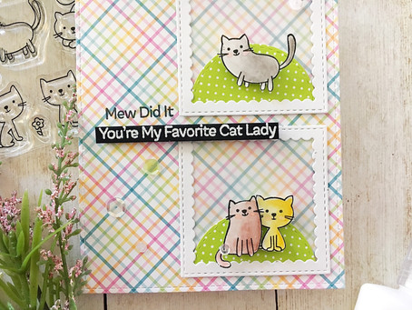 Mew Did it! |Encouragement Card featuring MFT for Scrap 'N Stamp