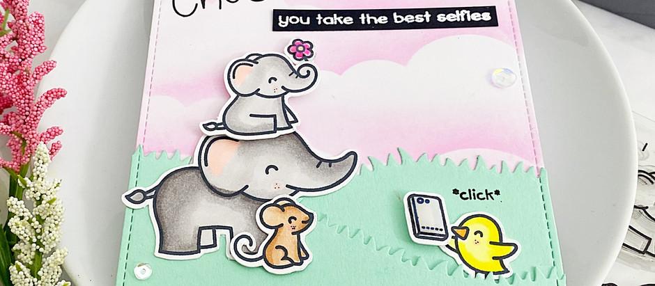 Elphie Selfie LIVE Facebook Scrap 'N Stamp #replay