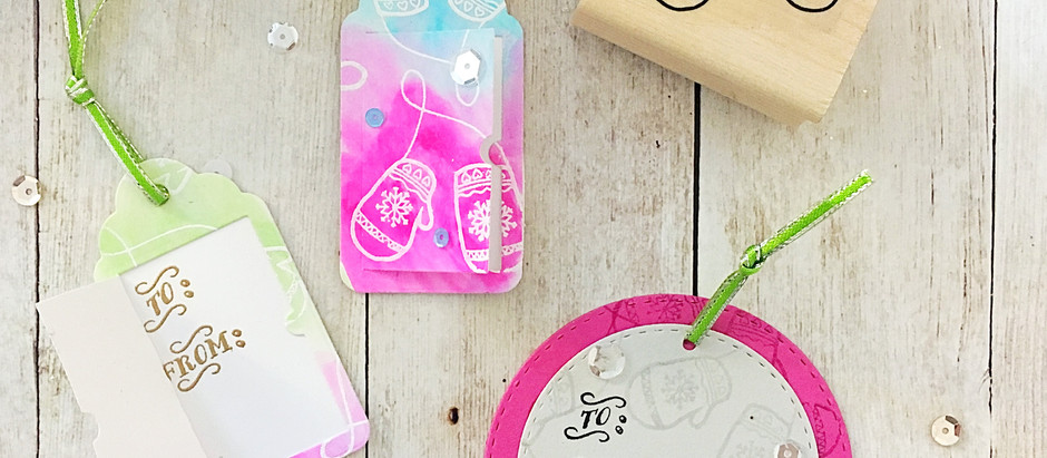 Merry and Bright Christmas Tags with Simply Stamps
