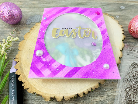 An Easter Days-E Bouquet |Ink Road Stamps Vellum Window Card