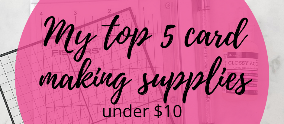 My Top 5 Cardmaking Supplies Under $10 | Simon Says Stamp Birthday Haul + Puurfect Birthday Freebie