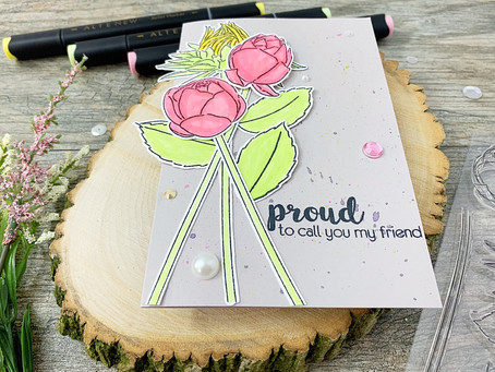 Altenew Best Buds|Quick and Easy Floral Card Using Only Three Starter Markers