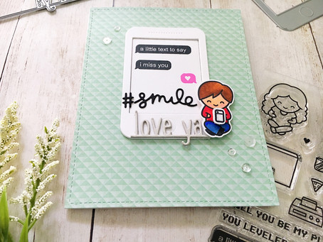 Screen Time After My Own Heart | Lawn Fawn & SNS Miss You Card