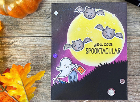 Spooktacular Lawn Fawn Halloween Scene | C.A.S.E Challenge Collab