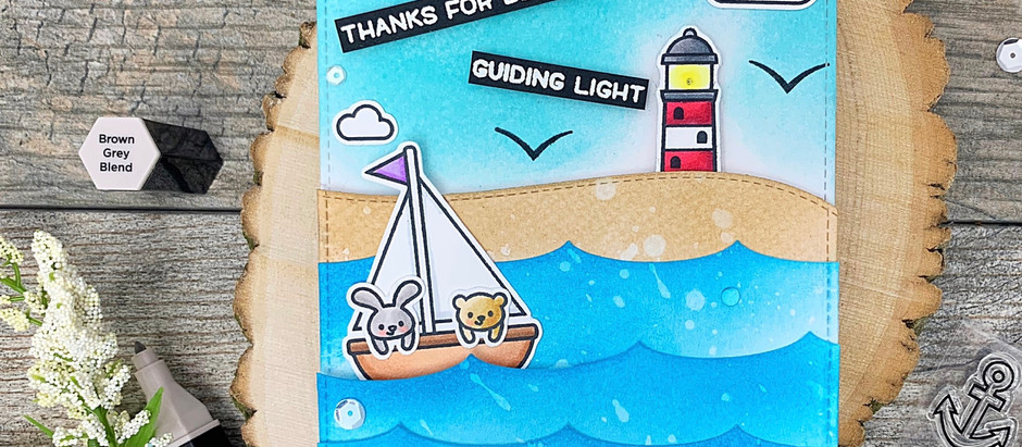 You're My Guiding Light | Lawn Fawn + Pear Blossom Press Blog Hop