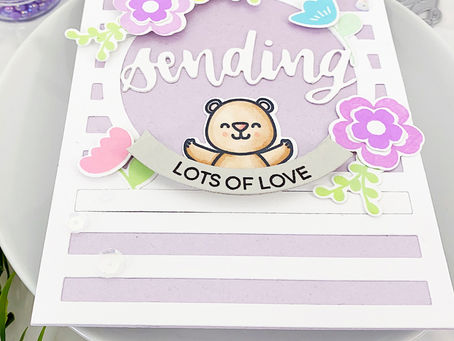 Easy Solid Stamping Card | Heffy Doodle