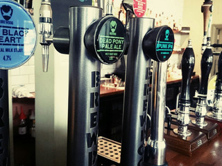 Wide selection of beer on tap and bottled.