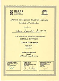 certificate artists in development UNESCO