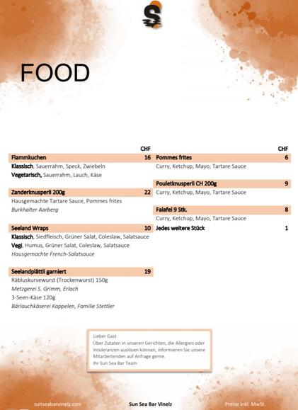 Karte Food