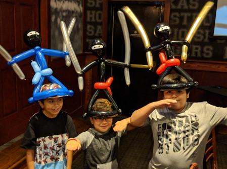 balloon ninja hat