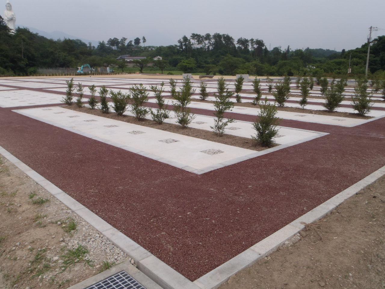 会津村 墓地公園整備