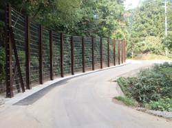 落石防護柵工事