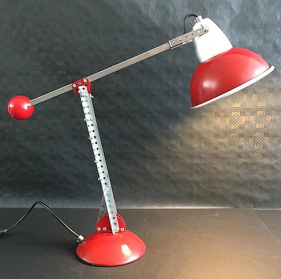 Red Retro Desk Lamp