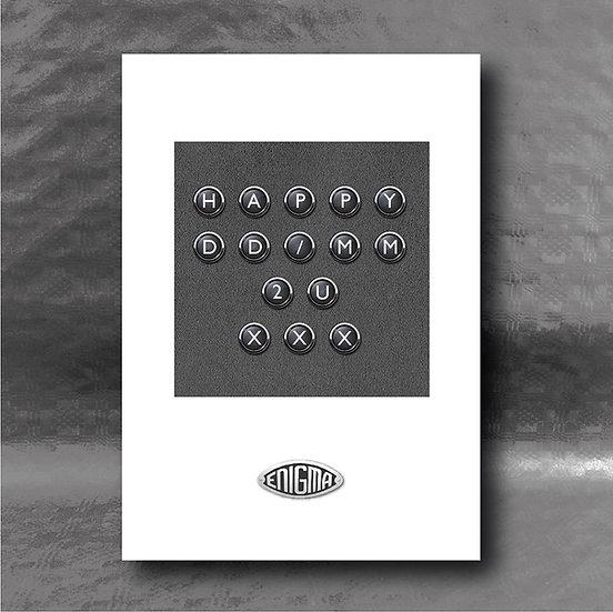Enigma Variations Birthday Card - Black