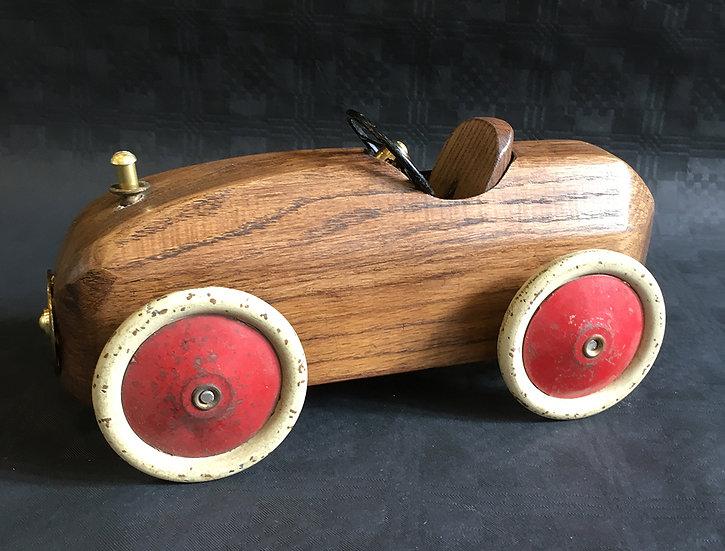 Handmade Solid Oak Racer Car